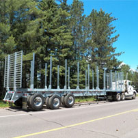 Galvanized Log Trailers