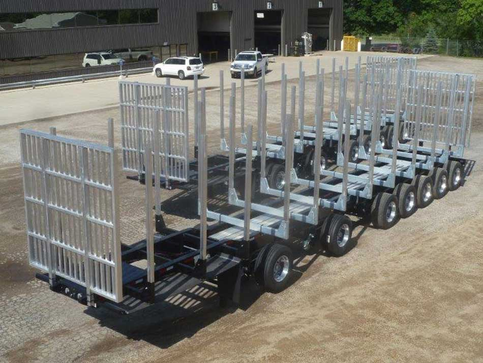 Galvastar Log Trailer 7 axle Michigan Spec