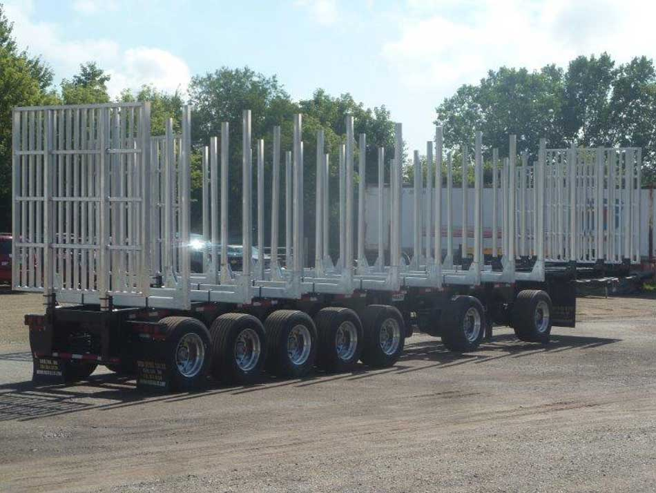 Galvastar 7 axle Log Trailer For Michigan