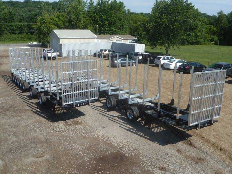 Galvastar 7 axle Michigan Log Trailer