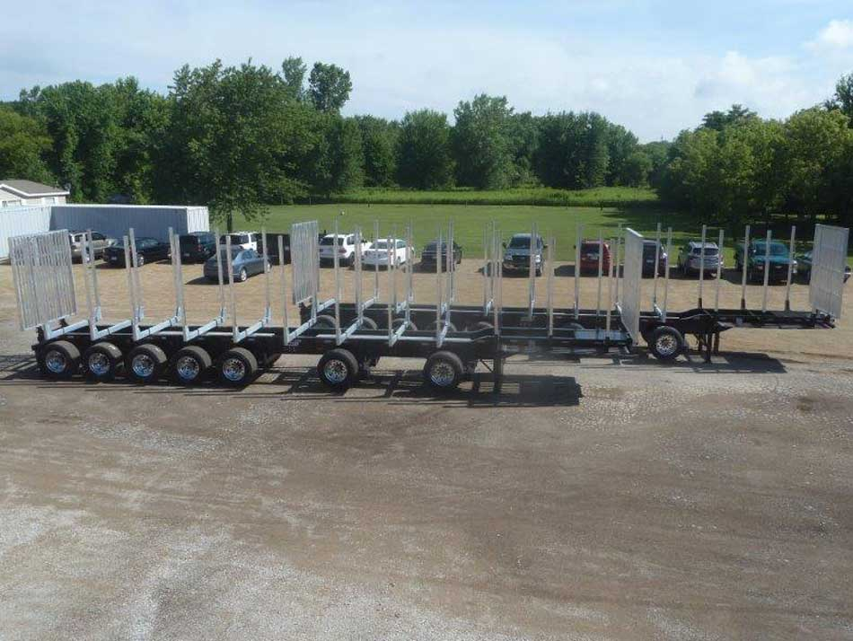 Galvastar Michigan Log Trailer 7 axle 6 Bunk