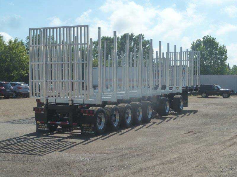 Galvastar Log Trailer 7 axle Michigan