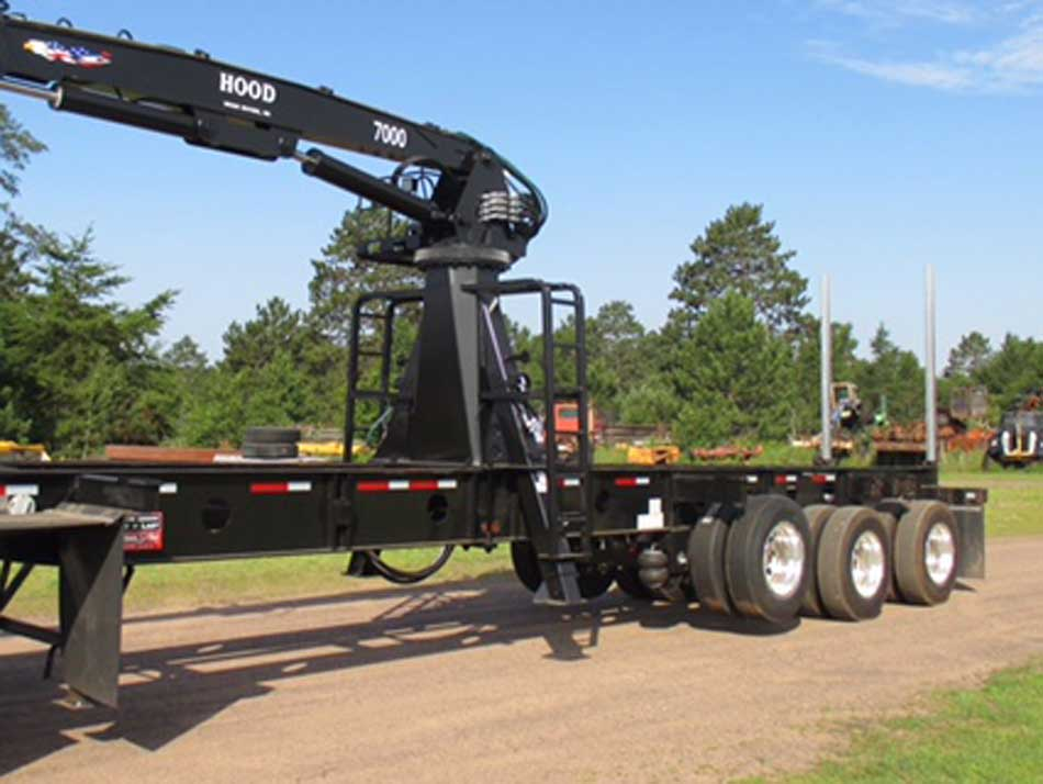 Galvastar Rail Trailer with Hood 7000 Log Loader